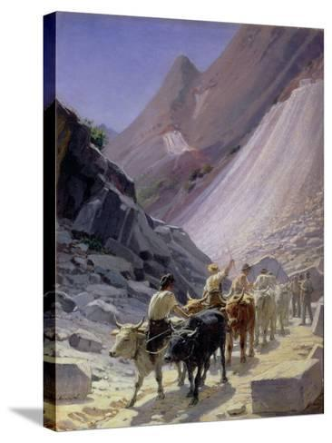 Transporting Marble at Carrara, 1868-Nikolai Nikolaevich Ge-Stretched Canvas Print