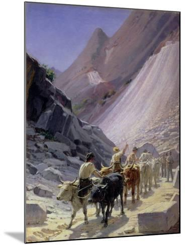 Transporting Marble at Carrara, 1868-Nikolai Nikolaevich Ge-Mounted Giclee Print