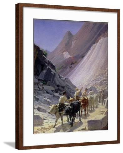 Transporting Marble at Carrara, 1868-Nikolai Nikolaevich Ge-Framed Art Print