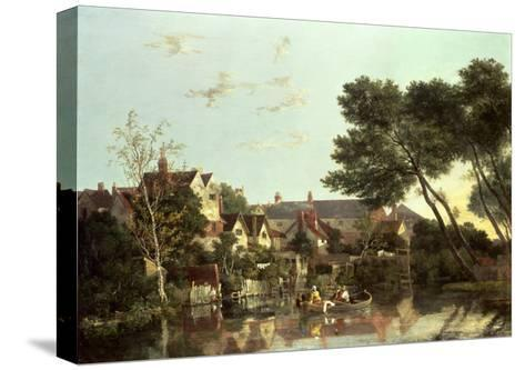 Norwich River, Afternoon, C.1812-19-John Crome-Stretched Canvas Print