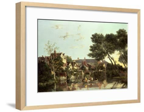 Norwich River, Afternoon, C.1812-19-John Crome-Framed Art Print