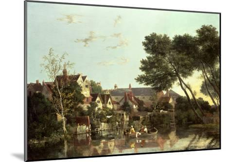 Norwich River, Afternoon, C.1812-19-John Crome-Mounted Giclee Print