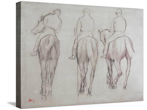 Jockeys-Edgar Degas-Stretched Canvas Print
