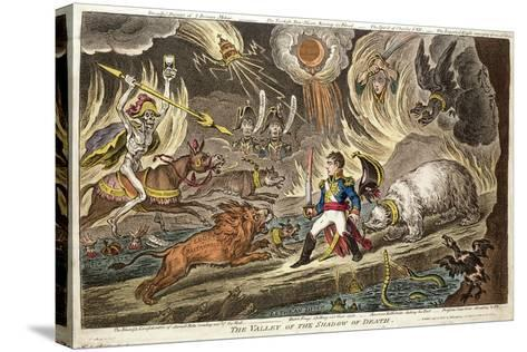 'The Valley of the Shadow of Death' by James Gillray, 1808--Stretched Canvas Print
