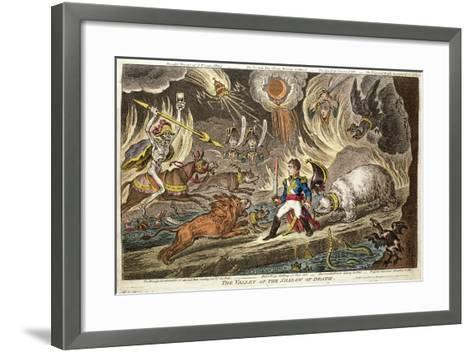 'The Valley of the Shadow of Death' by James Gillray, 1808--Framed Art Print