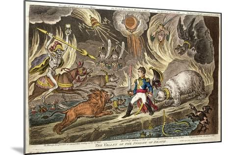 'The Valley of the Shadow of Death' by James Gillray, 1808--Mounted Giclee Print