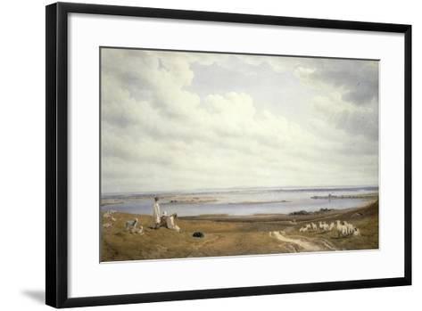 Portsmouth Harbour from Portsdown Hill-J^ M^ W^ Turner-Framed Art Print
