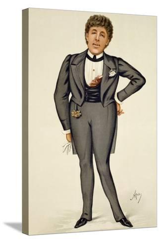 Oscar Wilde (1854-1900) Cartoon from 'Vanity Fair', 1884-Carlo Pellegrini-Stretched Canvas Print