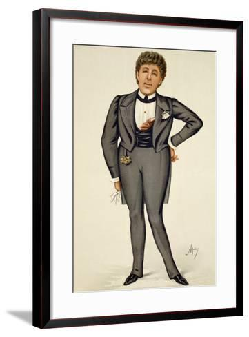 Oscar Wilde (1854-1900) Cartoon from 'Vanity Fair', 1884-Carlo Pellegrini-Framed Art Print