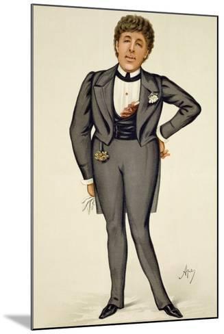 Oscar Wilde (1854-1900) Cartoon from 'Vanity Fair', 1884-Carlo Pellegrini-Mounted Giclee Print