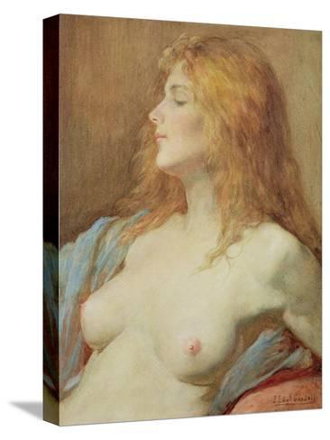 A Redhead-John Edward Goodall-Stretched Canvas Print