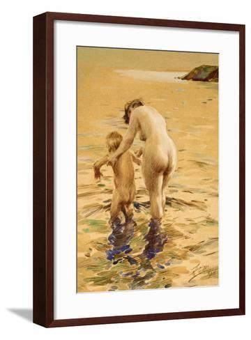 Her First Dip-Anders Leonard Zorn-Framed Art Print