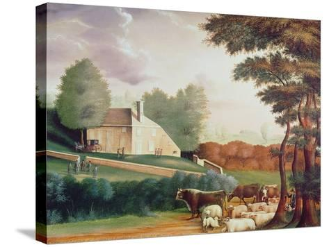 The Grave of William Penn-Edward Hicks-Stretched Canvas Print