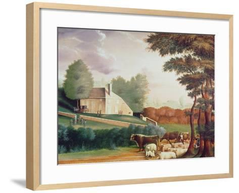 The Grave of William Penn-Edward Hicks-Framed Art Print