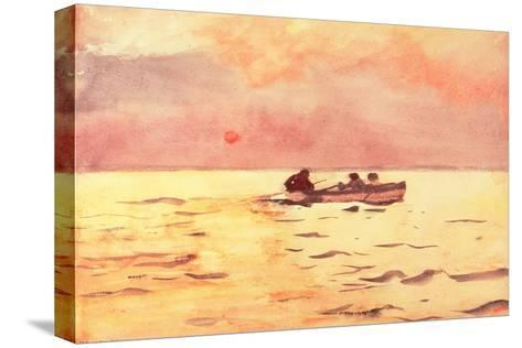 Rowing Home, 1890-Winslow Homer-Stretched Canvas Print