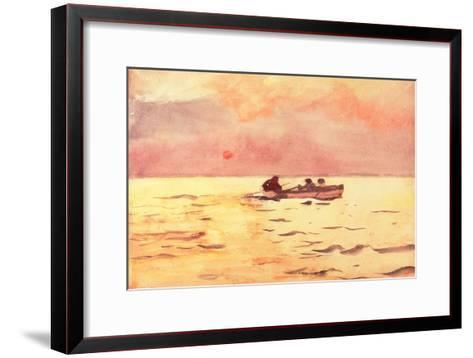 Rowing Home, 1890-Winslow Homer-Framed Art Print