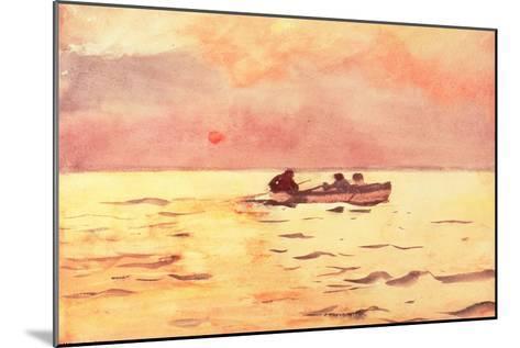 Rowing Home, 1890-Winslow Homer-Mounted Giclee Print