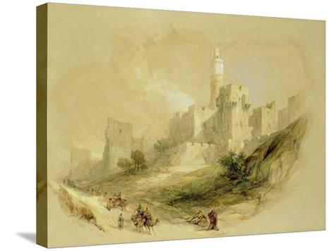 Jerusalem and the Tower of David-David Roberts-Stretched Canvas Print