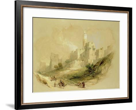 Jerusalem and the Tower of David-David Roberts-Framed Art Print
