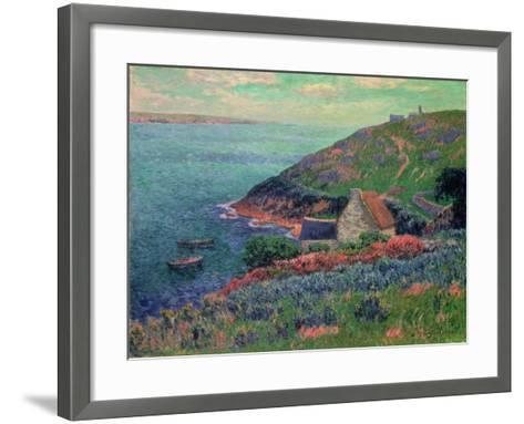 The Bay of Biscay, Brittany-Henry Moret-Framed Art Print