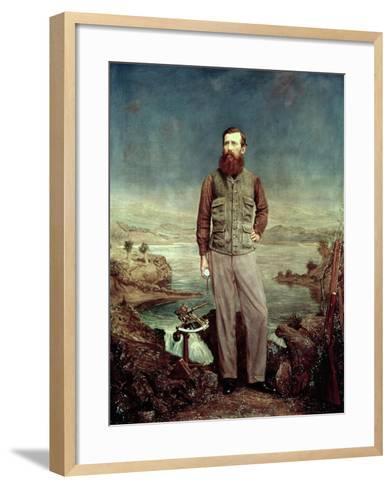 Portrait of John Hanning Speke (1827-64)-James Watney Wilson-Framed Art Print