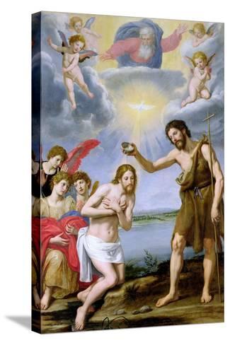 The Baptism of Christ-Ottavio Vannini-Stretched Canvas Print