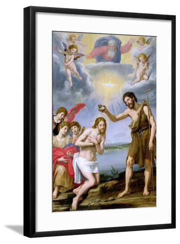 The Baptism of Christ-Ottavio Vannini-Framed Art Print