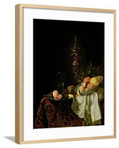 Dessert, 1653-54-Willem Kalf-Framed Art Print