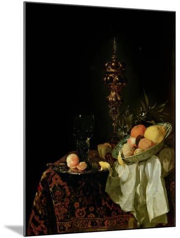 Dessert, 1653-54-Willem Kalf-Mounted Giclee Print