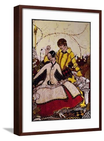 """Seven Dog-Days We Let Pass, Naming Queens in Glenmacnass"" Illustration by Harry Clarke from…-Harry Clarke-Framed Art Print"