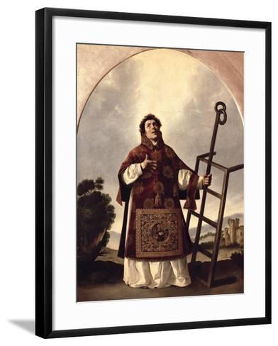 St. Lawrence-Francisco de Zurbar?n-Framed Art Print