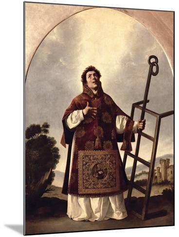 St. Lawrence-Francisco de Zurbar?n-Mounted Giclee Print