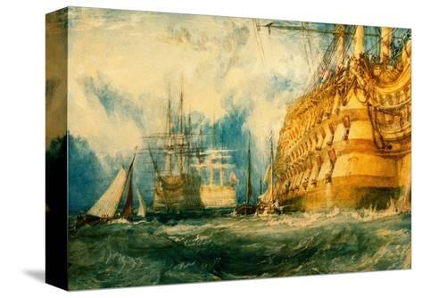 A First Rate Taking in Stores, 1818-J^ M^ W^ Turner-Stretched Canvas Print