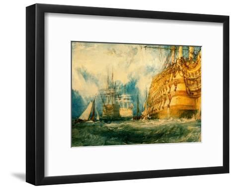 A First Rate Taking in Stores, 1818-J^ M^ W^ Turner-Framed Art Print