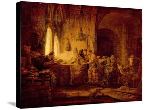 The Parable of the Labourers in the Vineyard-Rembrandt van Rijn-Stretched Canvas Print