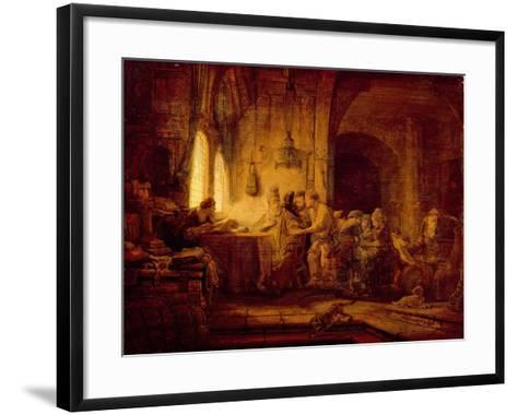 The Parable of the Labourers in the Vineyard-Rembrandt van Rijn-Framed Art Print