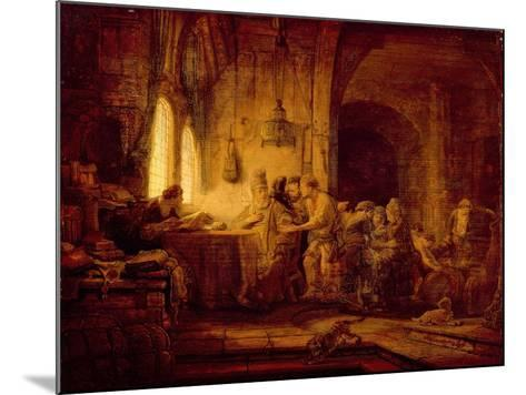 The Parable of the Labourers in the Vineyard-Rembrandt van Rijn-Mounted Giclee Print