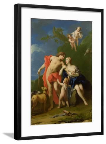 Venus and Adonis-Jacopo Amigoni-Framed Art Print