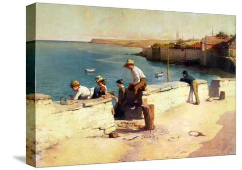 Evening at Padstow, 1890-Sir Samuel Henry William Llewelyn-Stretched Canvas Print