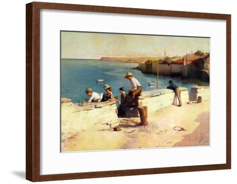 Evening at Padstow, 1890-Sir Samuel Henry William Llewelyn-Framed Art Print