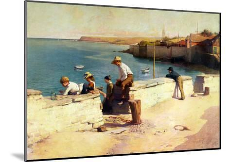 Evening at Padstow, 1890-Sir Samuel Henry William Llewelyn-Mounted Giclee Print