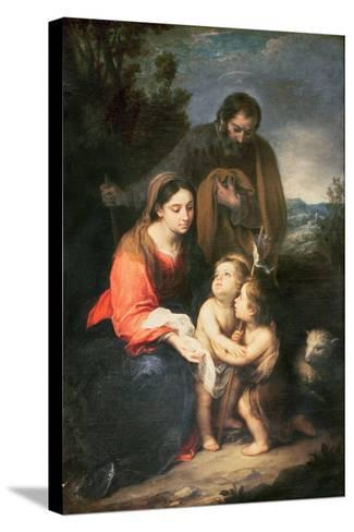 The Holy Family-Bartolome Esteban Murillo-Stretched Canvas Print
