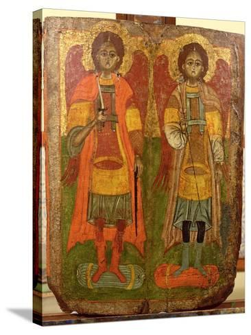 Archangels Michael and Gabriel, Byzantine Icon, Early Period, 10th-11th Century--Stretched Canvas Print