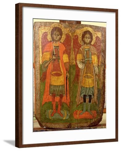 Archangels Michael and Gabriel, Byzantine Icon, Early Period, 10th-11th Century--Framed Art Print