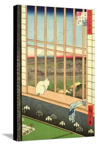 Asakusa Rice Fields During the Festival of the Cock from the Series '100 Views of Edo', Pub. 1857-Ando Hiroshige-Stretched Canvas Print