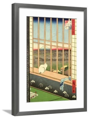 Asakusa Rice Fields During the Festival of the Cock from the Series '100 Views of Edo', Pub. 1857-Ando Hiroshige-Framed Art Print