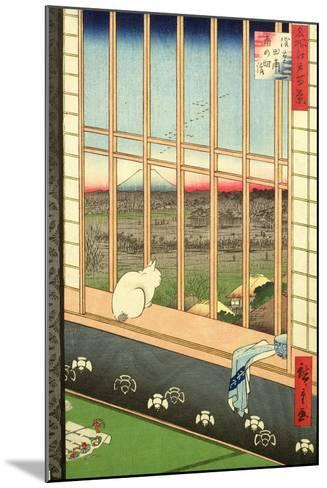 Asakusa Rice Fields During the Festival of the Cock from the Series '100 Views of Edo', Pub. 1857-Ando Hiroshige-Mounted Giclee Print