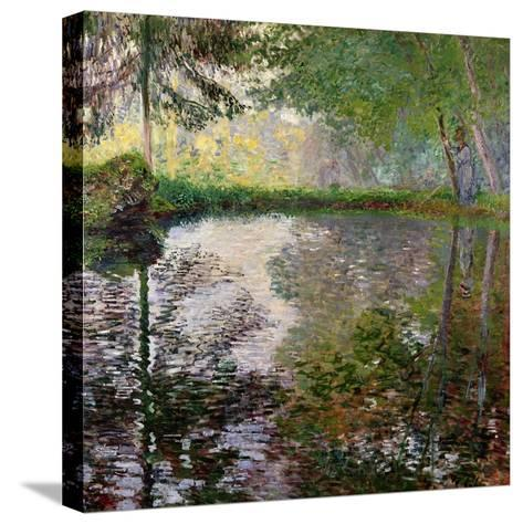 The Lake at Montgeron-Claude Monet-Stretched Canvas Print