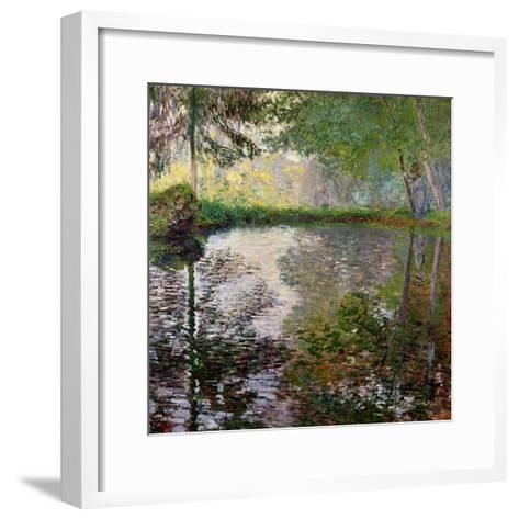 The Lake at Montgeron-Claude Monet-Framed Art Print