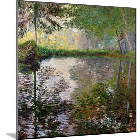 The Lake at Montgeron-Claude Monet-Mounted Giclee Print